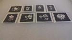 10 - 100 flower themed mini small stencils for etching on glass  Ideal for Fund raising,  hobby craft rose tulip